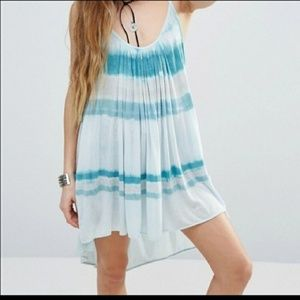 Free People Fly By Away Tie Dye Tank Top Dress
